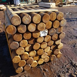 Machine Rounded Oak Landscaping Pole