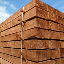 Pallet of New Brown Treated Softwood Sleepers 250mm x 125mm - FREE EXPRESS DELIVERY