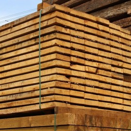 Pallet of New Untreated Oak Sleepers - 200mm x 50mm - FREE EXPRESS DELIVERY