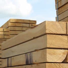 Pallet of New Untreated Oak Sleepers 225mm x 125mm - FREE EXPRESS DELIVERY