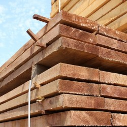 Pallet of New Brown Treated Softwood Sleepers 200mm x 50mm - FREE EXPRESS DELIVERY