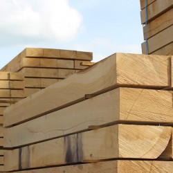 Pallet of New Untreated Oak Sleepers - 250mm x 125mm - FREE EXPRESS DELIVERY