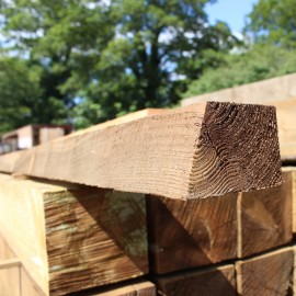 Treated Softwood Cant Rail