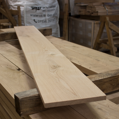 Planed All Round Kiln-Dried Oak Boards - Character Grade