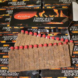 Box of 96 Packs of Ecofire Strike-A-Lite Firelighters - FREE DELIVERY*