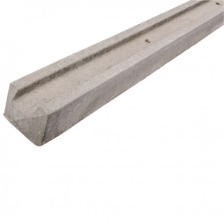 Concrete Slotted End Fence Post - Lightweight
