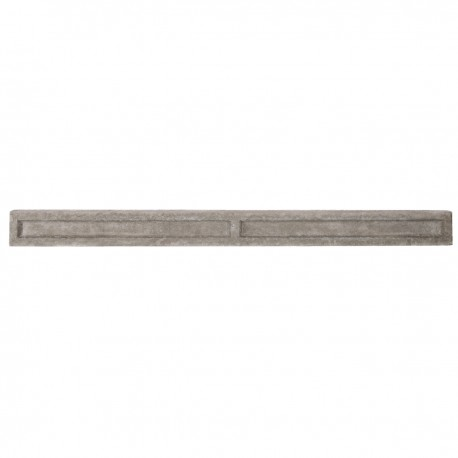 """6"""" Recessed Concrete Gravel Board for Slotted Posts - Lightweight"""