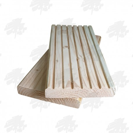Untreated English Larch Decking 145mm