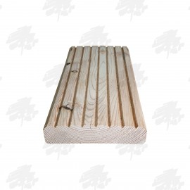 Untreated English Larch / Douglas Fir Heavy Duty Decking 145mm