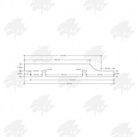 Siberian Cedar Shiplap Cladding - Technical Drawing