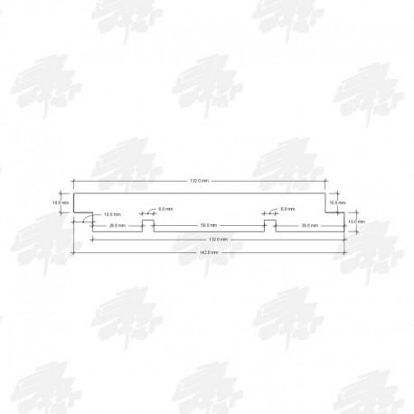 Siberian Cedar Half Lap Cladding - Technical Drawing