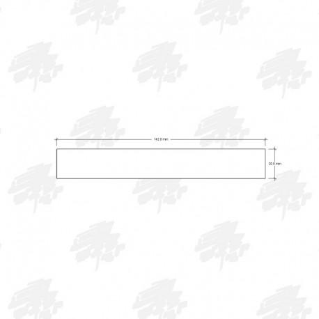 142mm Siberian Cedar Board on Board Cladding - Technical Drawing