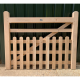 Oak Half Paled Gate - Rounded Palings