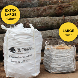 Extra Large Bulk Bag of Mixed Kiln and Air Dried Sawmill Offcuts - FREE DELIVERY