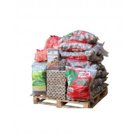 Premium Kiln-Dried Firewood And Ecofire Briquette Package