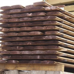 Pallet of Brown Treated Log Lap Sleepers 194mm x 44mm - FREE EXPRESS DELIVERY