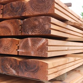 Pallet of Brown Treated Log Lap Sleepers 194mm x 94mm - FREE EXPRESS DELIVERY