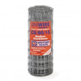 Uniwire C8/80/15 Mild Steel Medium Stock Fencing