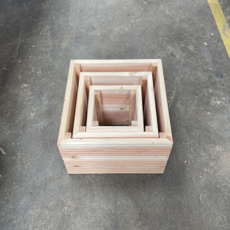 Set of 3 Nested Decking Board Planters