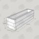 2525x725x750mm Green Treated Softwood Sleeper Raised Bed Kit - Rectangular