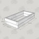 2525x1325x500mm Green Treated Softwood Sleeper Raised Bed Kit - Rectangular