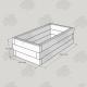 2525x1325x750mm Green Treated Softwood Sleeper Raised Bed Kit - Rectangular
