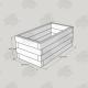 2525x1325x1000mm Green Treated Softwood Sleeper Raised Bed Kit - Rectangular