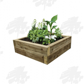 Green Eco Treated Softwood Sleeper Raised Bed Kit - Square - FREE EXPRESS DELIVERY