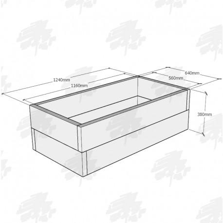 Planed Oak FlowerBed Kit - Rectangular - 1240x640x380mm