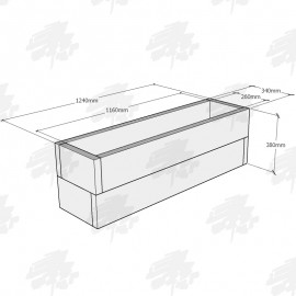 Planed Oak FlowerBed Kits - Rectangular - FREE EXPRESS DELIVERY