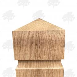 Oak Bollard - Pyramid Top