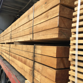 Pallet of New Untreated Siberian Larch Sleepers 200mm x 100mm - FREE EXPRESS DELIVERY
