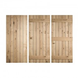 Ledged Oak Doors