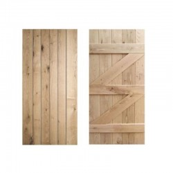 Ledged and Braced Oak Doors