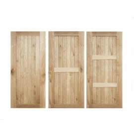 Framed and Ledged Oak Doors