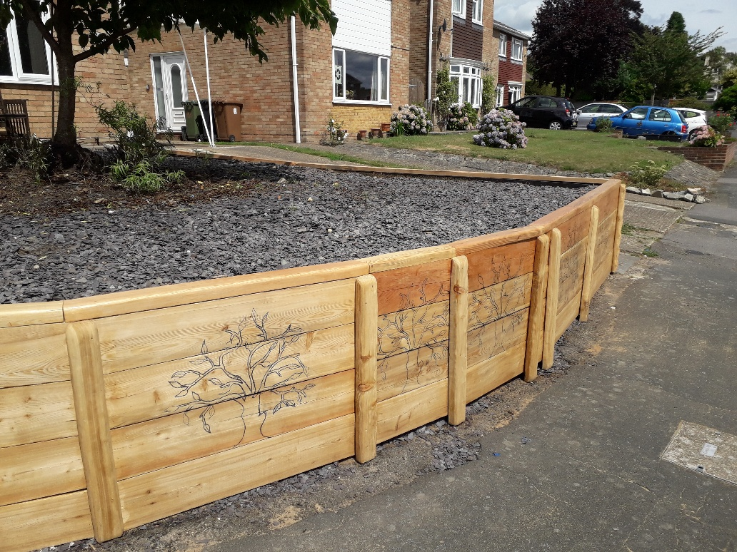 Siberian Larch Railway Sleepers Retaining Wall
