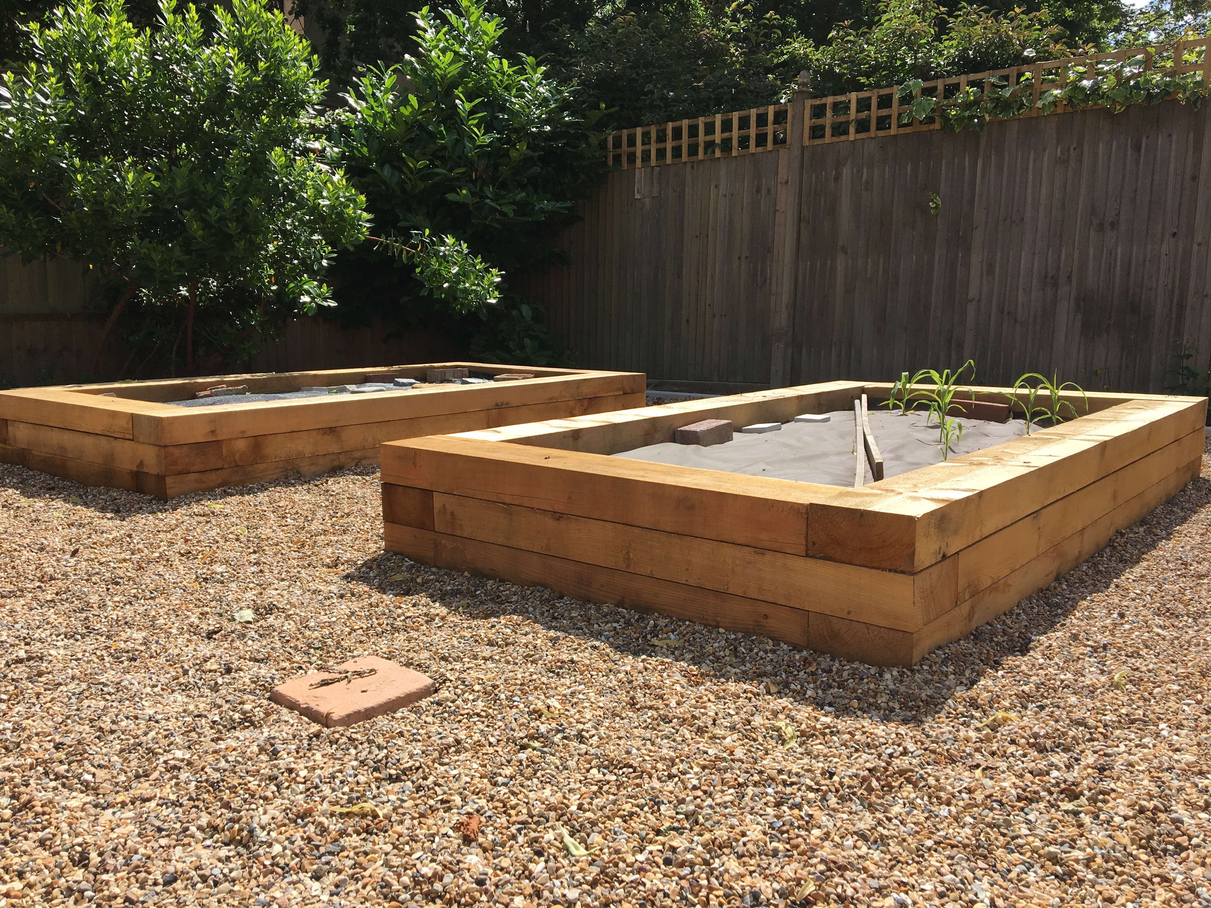 Siberian Larch Sleepers used for Raise Beds
