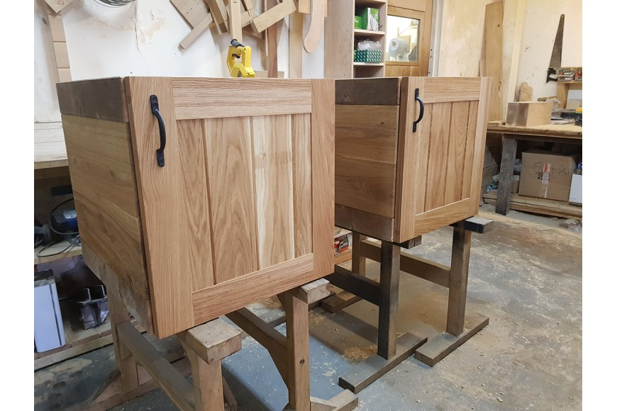 Taking our beautiful Oak Sleeper Cube Side Table one step further....