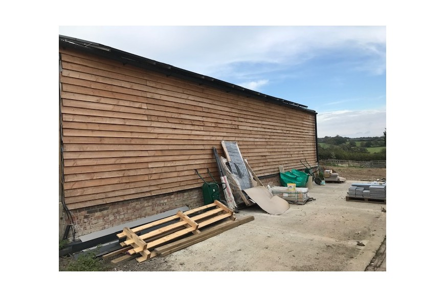 English Larch Cladding Project