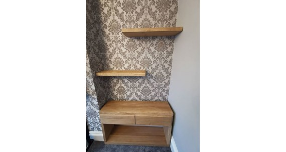 A stunning Alcove Unit created from solid oak