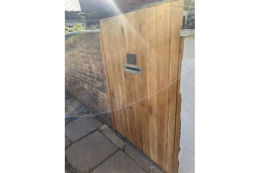 A Garden Gate created with Siberian Larch Cladding Boards