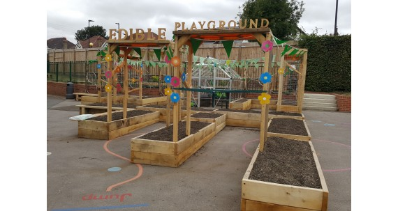 A Playground Landscaping Project with Oak Railway Sleepers